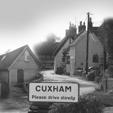 Cuxham village history book and display graphics